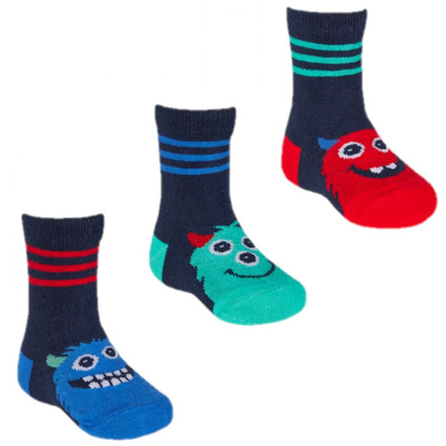3 pack striped top monster socks by Tiktok