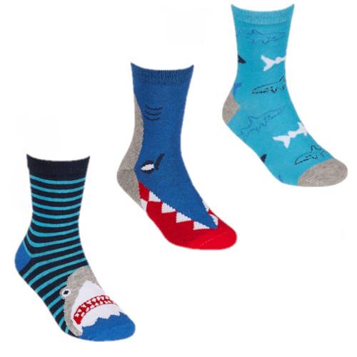 3 pack Shark socks by Tiktok vivid colours
