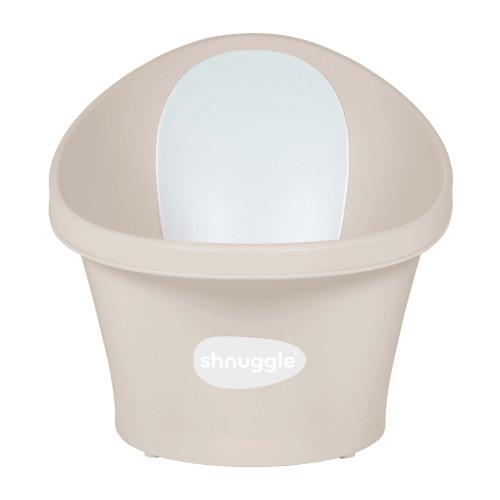 Shnuggle Baby Bath With Plug & Foam Backrest Taupe