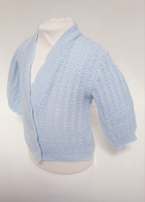 Blue V neck Cardigan