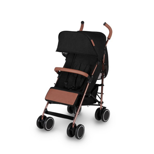 Ickle Bubba Discovery  Stroller - Black/ Rosegold