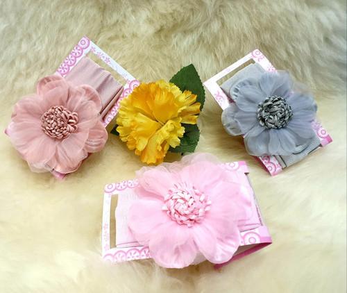Organza Flower headband (choose a colour)