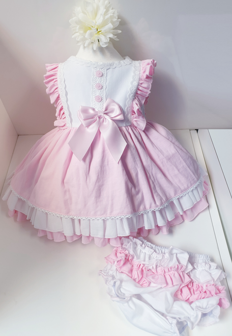 Lola tiered baby dress with knicker set