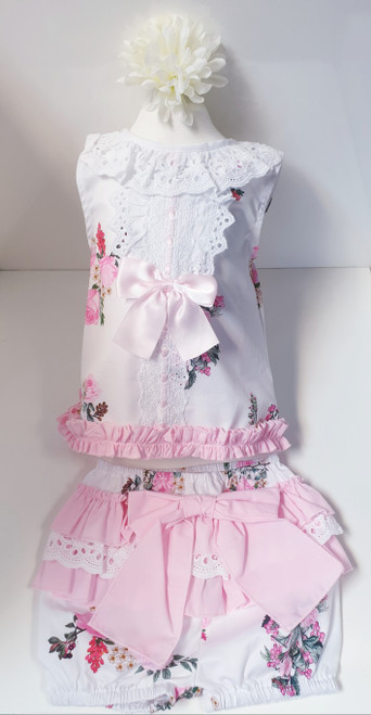 Amelie baby dress with jam pant set