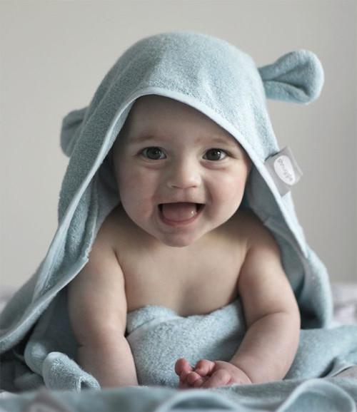 Wearable Hooded Towel - Blue inc ears