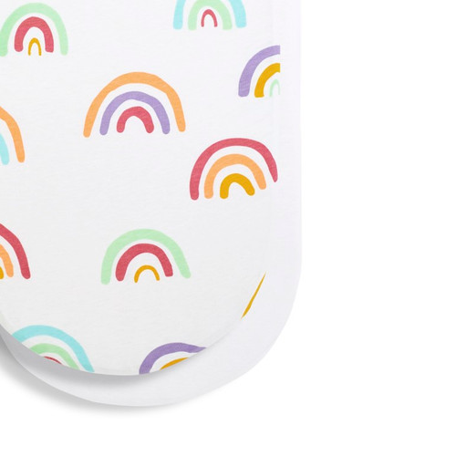 Moses Basket/Pram 2 Pack Fitted Sheets - Rainbow