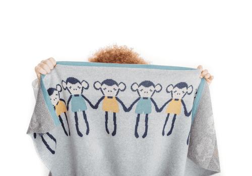Cheeky Monkey Blanket