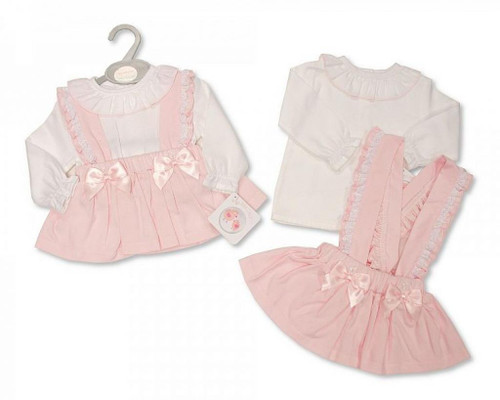 """Pink """"Lace and Bow"""" Dress set"""