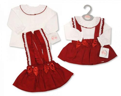 "WIne ""Lace and Bow"" Dress set"