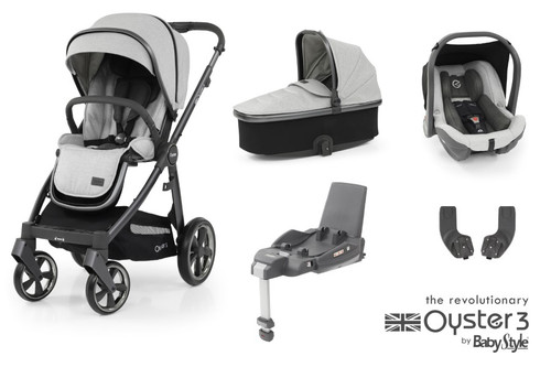 Oyster 3 Essential 5 piece Bundle Tonic with matching car seat and and isofix