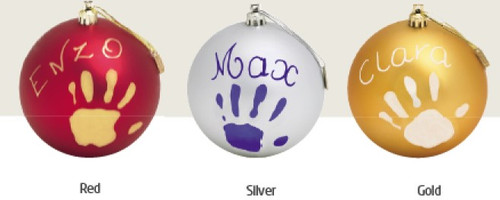 My first Christmas Bauble - Gold /Silver/ Red
