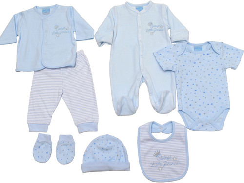 """Cutest little Prince"" 7 Piece Layette"