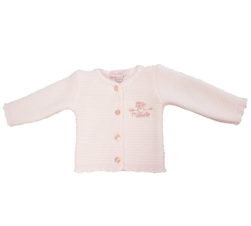 Pink and White Little  Miracle Knitted cardigan - 3-5lbs +5-8lbs