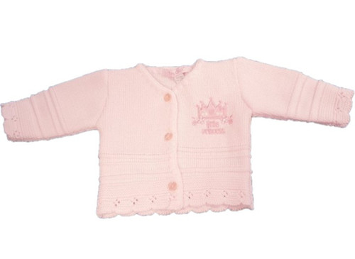 Pink Little Princess  Miracle Knitted cardigan - 3-5lbs +5-8lbs