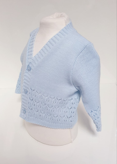 Fancy Knit Blue cardigan