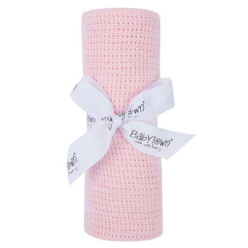 Cellular Blanket Pink (Pram, Crib, Moses Basket)