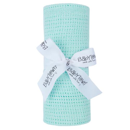 Cellular Blanket Mint (Pram, Crib, Moses basket)
