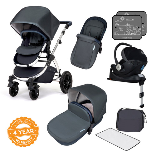 Icklebubba Blueberry Mirror Stomp V4 iSize 3in1 travel system including Isofix