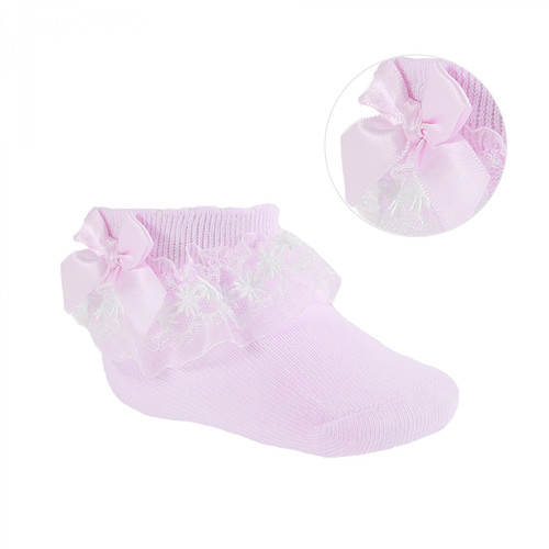 Pink Organza and lace sock