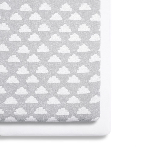 Crib 2 Pack Fitted Sheets - Clouds