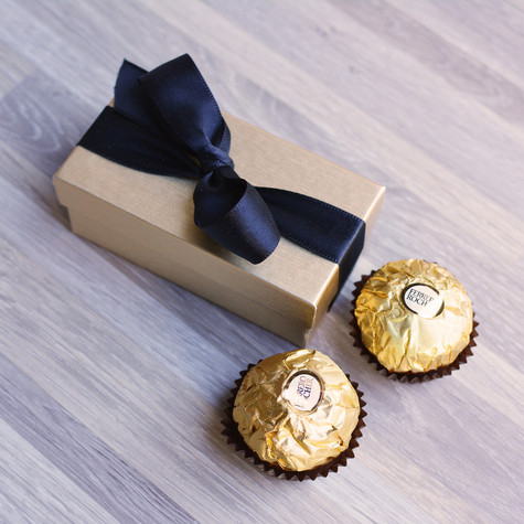 Ferraro Roche Truffles, birthday Card for clients and employees
