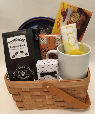 coffee, cookies, gift basket, Purple Door