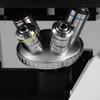 40X-400X Inverted Biological Compound Laboratory Microscope, Trinocular, Halogen Light, Mechanical Stage