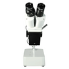 10X Widefield Stereo Microscope, Binocular, Single Arm Boom Stand with Arbor, Incandescent Top Light