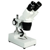 20X/40X Widefield Stereo Microscope, Binocular, Post Stand, LED Top Light (360° Rotatable Head)