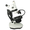 6.7X-45X Professional Jewelry Gem Stereo Zoom Microscope, Trinocular, Fluorescent/Halogen Light, Dark Field