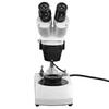 10X/30X Jewelry Gem Stereo Microscope, Binocular, Halogen Light, Post Stand + Dark Field Condenser