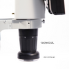 LED Video Microscope, LCD 10 in. Monitor, Industrial Inspection, Track Stand
