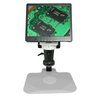 LED Video Microscope, LCD 10 in. Monitor, Industrial Inspection, Post Stand