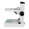 Microscope Table Track Stand, 76mm Focusing Rack, 240mm Track Length, 105mm Focus Distance, Top + Bottom LED Light
