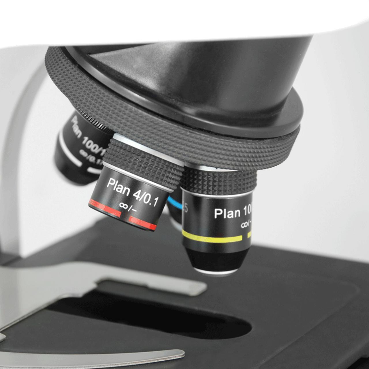 Oil Spring BoliOptics Infinity-Corrected Plan Fluor Achromatic Microscope Objective Lens Set 4X 10X 40X 100X FM13013031