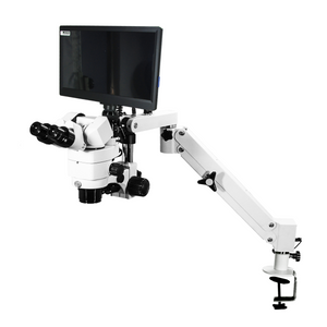 2.0 Megapixels 3.44X/6.25X/10.94X/18.75X/34.38X CMOS LED Coaxial Reflection Light Pneumatic Arm Trinocular Parallel Multiple Power Operation Stereo Microscope SM51030132