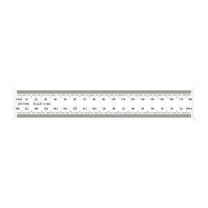 180mm/1800 Div Transparent Ruler RT02420303