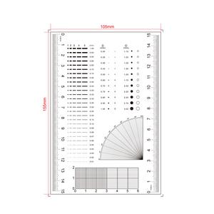 150mm/600 Div, 20x30mm/200x300 Net Grid, 20x30mm/200x3 Net Grid  Comparison Test Gauge RT02420503