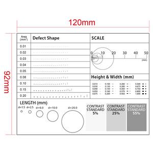 5mm/10 Div, 5mm/5 Div, 40mm/4 Div Multiple Scale Film Ruler RT02420614