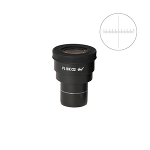 10mm/100 Div Eyepiece Field of View Dia. 22mm 10X Reticle Eyepiece ( Dia. 30/FN22) MT05162232