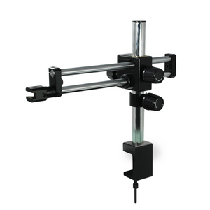 Microscope Boom Stand with Clamp, Double Arm, Heavy Duty