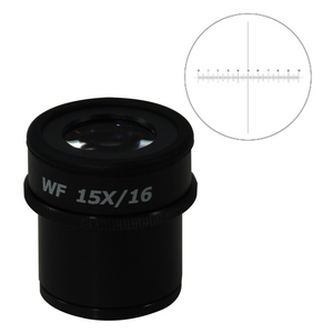 10mm/100 Div Eyepiece Field of View Dia. 16mm 15X Reticle Adjustable Eyepiece ( Dia. 30/FN16) SZ17013441