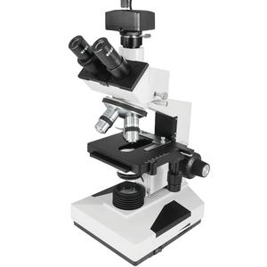 40X-1500X Biological Compound Laboratory Microscope, Trinocular, Halogen Light + USB Digital Camera