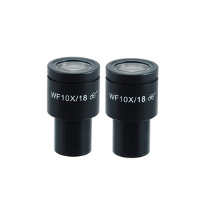 WF 10X Widefield Microscope Eyepieces, High Eyepoint, 23.2mm, FOV 18mm, Reticle Mount 20mm (Pair)