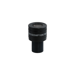 WF 10X Widefield Focusable Microscope Eyepiece with Reticle, X-Axis Crosshair, High Eyepoint, 23.2mm, FOV 18mm, Adjustable Diopter (One)