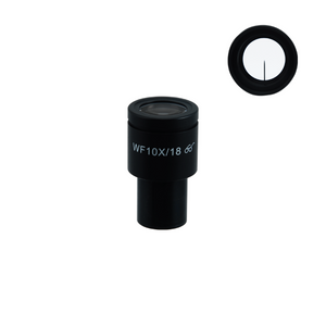 WF 10X Widefield Microscope Eyepiece with Pointer, High Eyepoint, 23.2mm, FOV 18mm (One)