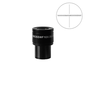 WF 10X Widefield Focusable Microscope Eyepiece with Reticle, X-Axis Crosshair, High Eyepoint, 30mm, FOV 20mm, Adjustable Diopter (One) BM03022231