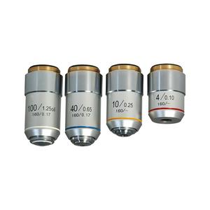 Achromatic Microscope Objective Lens Set (Oil Spring) 4X 10X 40X 100X BM14013011