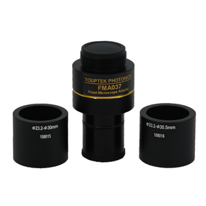 0.37X Microscope Camera Coupler C-Mount Adapter to Convert Eyetube Diameters 23.2mm to 30mm, 23.2mm to 30.5mm