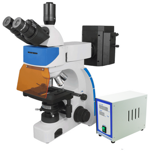 40X-1000X Fluorescence Microscope, Trinocular, Dual Light MH FM03020303